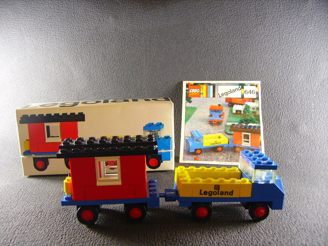 lego system vintage legoland 646 camion baraque chantier instructions 1970 ebay. Black Bedroom Furniture Sets. Home Design Ideas